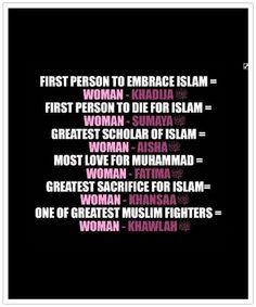Women in Islam. I love this. True status of Muslim women.