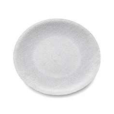 Textured with weave-like pattern and glistening silver, this beautiful glass dinnerware makes merry of clean, casual shapes with shimmering color.