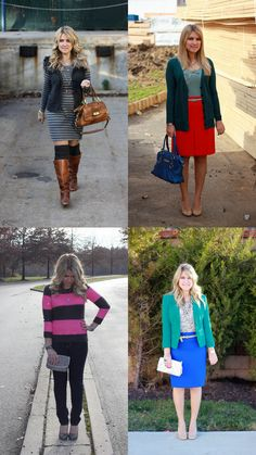 Love the top left look- from Mix and Match Fashion