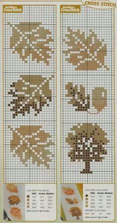 Kit de punto de cruz de Capit/án Crafts para manualidades dise/ño de p/ájaros blanco