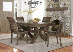 Five Piece Trestle Dining Room Set Main Image