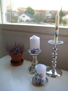 Decoupage -tekniikalla koristellut kynttilät: http://sisustusvarkkailya.blogspot.fi/2015/12/2-adventti.html