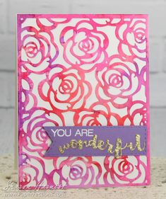 From Sharon Harnist via www.PaperFections.com -- #EssentialsByEllen Winter 2016 Release: Bed of Roses & Brushstroke Wonderful dies!