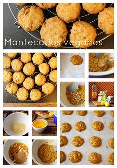 Mantecados veganos con maíz y piñones. Riquísimos y facilísimos!!! http://elfestindemarga.blogspot.com.es/2014/10/mantecados-veganos-de-maiz-con-pinones.html