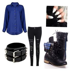Fnaf 4 nightmare Bonnie inspired outfit by mangle87 on Polyvore featuring polyvore, fashion, style, Glamorous and Yves Saint Laurent