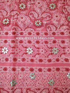 Wholesale Lucknow Chikan Suits | Designer Chikankari Kurtis | Anarkali Online : GOTA PATTI WORK ON CHIKAN FABRIC