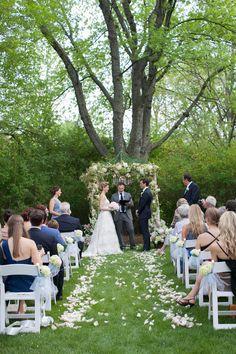 Inverness, Illinois Family Backyard Wedding  Read more - http://www.stylemepretty.com/illinois-weddings/2014/03/04/inverness-illinois-family-backyard-wedding/