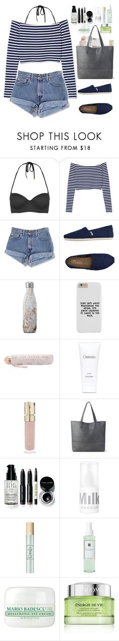 """""""Stay cool."""" by krys-imvu ❤ liked on Polyvore featuring Topshop, TOMS, S'well, Ted Baker, Calvin Klein, Smith & Cult, Sole Society, Bobbi Brown Cosmetics, Linne and Mario Badescu Skin Care"""
