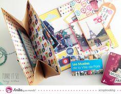 Anita y su mundo: mini álbum de viaje reciclando sobre kraft paso a paso