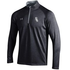 Chicago White Sox Under Armour Charged Quarter-Zip Pullover Jacket - Black
