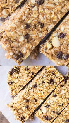 Granola Bar Recipe Easy, No Bake Granola Bars, Healthy Granola Bars, Chewy Granola Bars, Healthy Snacks, Healthy Recipes, Granola Oats, Snack Recipes, Dessert Recipes