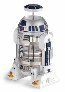 R2D2 Coffee Press - a great gift idea for any Star Wars fan.   What cuter way of making coffee than by looking at R2D2?