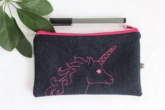 Federmäppchen - Einhorn Tasche - ein Designerstück von kleidzeit bei DaWanda #dawanda #kleidzeit #handmadewithlove #einhorn