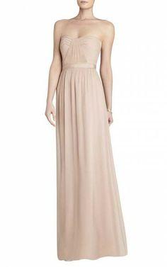 Bcbgmaxazria Amber Cascade Strapless DressOutlet
