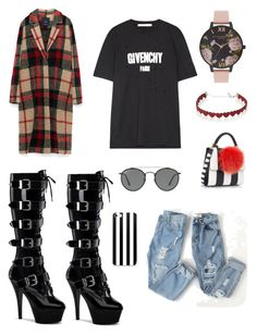 """""""Good, I'm glad"""" by chemduhart on Polyvore featuring beauty, Givenchy, Pleaser, Les Petits Joueurs, Ray-Ban, Simons and Olivia Burton"""