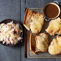 Turkey French Dip with Slaw I just ate this and it was damn good! Put the slaw right in the sammie!