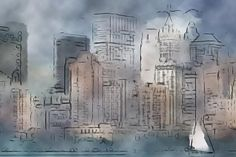 Cityscape 3 #city #watercolor #abstract #soft #icolorama #ipadart #digitalart #mobileart
