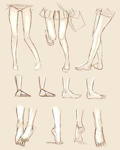 Feet Study by Duduru