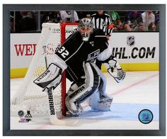 "Jonathan Quick 2013-14 LA Kings - 11"" x 14"" Photo in a Glassless Sports Frame"