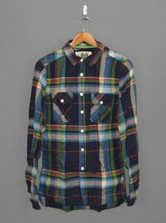 RVLT David Shirt Navy Plaid