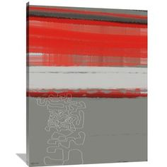 Naxart 'Abstract Red 1' Painting Print on Wrapped Canvas Size: