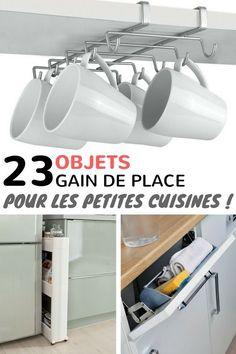 23 Objets «Gain de Place» Pour Optimiser l'Espace d'Une Petite Cuisine  http://www.homelisty.com/objets-gain-de-place-petite-cuisine/