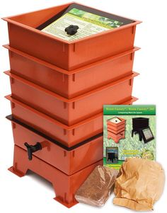 Worm Factory Worm Composting Bin Bonus 'What Can Red Wigglers Eat?' Infographic Refrigerator Magnet - Vermicomposting Container System - Live Worm Farm Starter Kit for Kids and Adults -- Learn more by visiting the image link. (This is an affiliate link) Red Wigglers, Worm Farm, Worm Composting, Waste Paper, Kits For Kids, Gardening Supplies, Starter Kit, Organic Gardening, Recycling