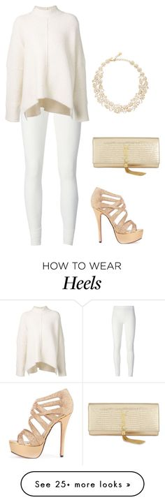 """Shimmer & Gold"" by carlafashion-246 on Polyvore featuring Kate Spade, Yves Saint Laurent, Rick Owens Lilies and URBAN ZEN"