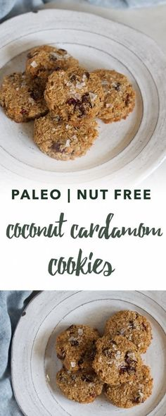Coconut, cranberry and cardamom cookies | Empowered Sustenance