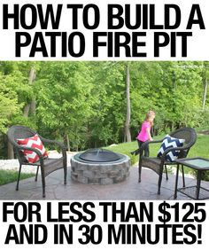 backyard DIY firepit