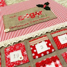 Personalized Advent Calendar - maybe mount on big cork board Christmas Countdown, Christmas Diy, Advent Calander, Christmas Stockings, Kids Rugs, Crafty, Holiday Decor, Handmade Gifts, Calendar Ideas