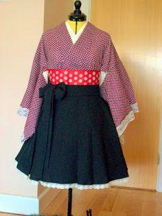 Making a Dress - Lolita hakama skirt | Kitty Kanzashi
