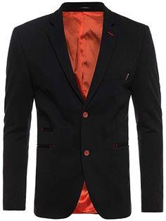 feaae8deb6a89 OZONEE Herren Sakko Business Anzug Kurzmantel OZN430  Amazon.de  Bekleidung