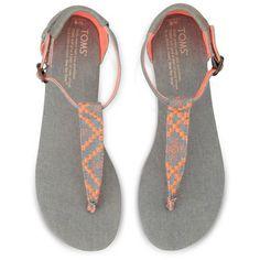 Neon Denim Women's Playa Sandals | TOMS.com