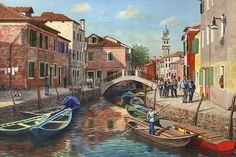 Venice Painting, Italy Painting, Buy Paintings, Landscape Paintings, Original Paintings, Canvas Wall Art, Wall Art Prints, Poster Prints, Posters