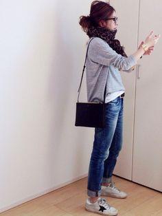 mayumiさんのTシャツ/カットソー「AURALEE 【AURALEE(オーラリー)】SEAMLESS L/S BIG TEE」を使ったコーディネート