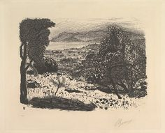 Landscape in the South of France - Pierre Bonnard (Lithograph)