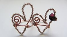 Wire ring made to order.  Copper and sterling silver.  Stone optional.  Just $20.