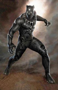 Black Panther: Marvel cast Chadwick Boseman but who is the Black Panther? Black Panther Comic, Black Panther King, Black Panther Costume, Black Panther 2018, Marvel Comics, Marvel Heroes, Captain America, Thor, Iron Man