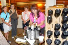 Tasting bubbly at Domaine Carneros