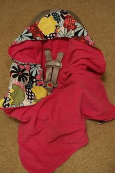 Infant Carseat Swaddle Blanket fleece and flannel by DesignsbyRomy, $30.00