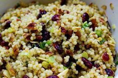 ISRAELI COUSCOUS WITH CRANBERRIES AND PECANS