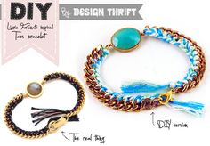 Design Thrift Blog: DIY Lizzie Fortunato inspired taos bracelet