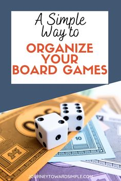 Home Organisation Tips, Getting Rid Of Clutter, Board Games For Kids, Organizing Your Home, How To Get Rid, Simple Way, Declutter, Kids Toys, Boards