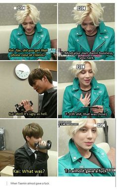 On a scale of one to even, I CAN'T. | Taemin | Kai | SHINee | Exo