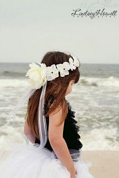 Gorgeous White Hydrangea Flower Girl Crown / Halo -Wedding- Quinceanero- Sweet Sixteen -First Communion-Bah Mitzvah-Recital. $34,99, via Etsy.