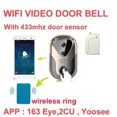 Video Door Intercom camera with bell WiFi IP Camera Wireless Alarm Doorbell HD Visual Intercom WiFi Door Bell door cctv camera