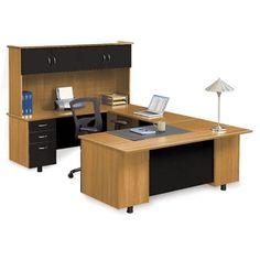 Ascend Left Bridge U-Desk with Hutch // NBF Signature Series Ascend Collection