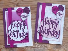 handmade birthday card using Stampin Up Happy Birthday Gorgeous stamp & die bundle. Cards by Di Barnes #colourmehappy 2017-18 annual catalogue