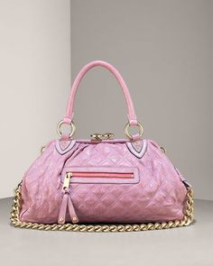 Marc Jacobs Quilted Stam Bag in raspberry
